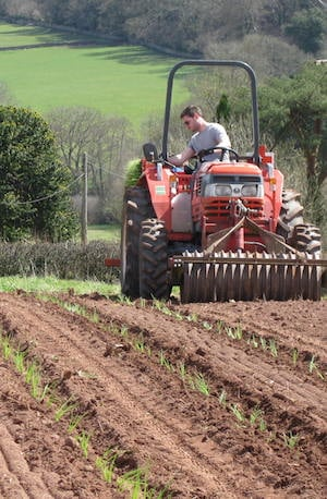 Ploughing at Leigh Court Farm
